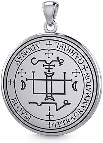 【PETER STONE】ソロモン王の鍵 大天使ガブリエルの護符 シルバー ペンダントトップ|アルマデルの魔導書
