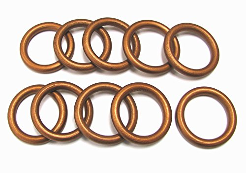 Linpeng Wood Loops/Wooden Rings for Craftwork/DIY Jewelry/Ring Pendant/Jewelry making Connectors/Size 58x 40x8mm / Copper Brown Color / 10 -