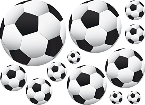36 Soccer Ball Wall Decor Art Stickers Decals Vinyls -
