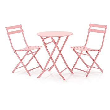 Swell Amazon Com 3 Piece Folding Tables Outdoor Chair Metal Patio Andrewgaddart Wooden Chair Designs For Living Room Andrewgaddartcom