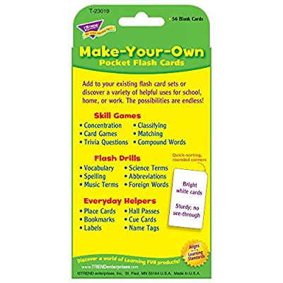 Make-Your-Own Pocket Flash Cards: Toys & Games