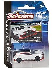 Majorette 212054050Gran Turismo Vison Assortment Miniature Vehicle Includes Collector's Card 6Different Models, die-cast, 7.5cm