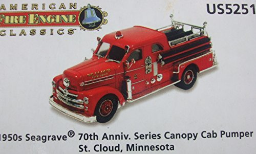 Corgi American Fire Engine Classics 1950's SEAGRAVE 70th Anniversary Series Canopy Cab Pumper - St. Cloud Minnesota - US52513