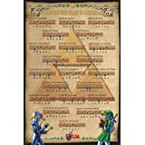 Zelda Ocarina Of Time Songs of the Ocarina Action Adventure Video Game Nintendo Poster - 24x36