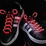 BFlowerYan Red LED Shoelaces Light up Shoe Laces