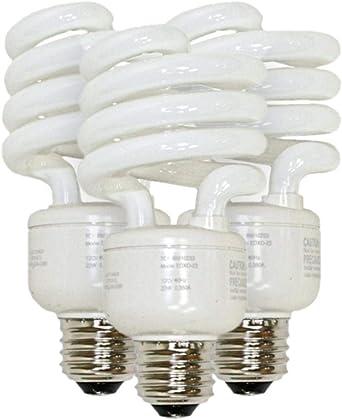 TCP 06293-8010233 3PK Twist Medium Screw Base Compact Fluorescent Light Bulb