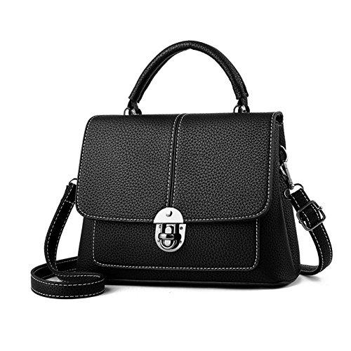 Embrayages Sacs À Cuir Bandoulière En Épaule Wuyy Shopping Sac tout Fourre Black Femmes Main Mode qATtWOw