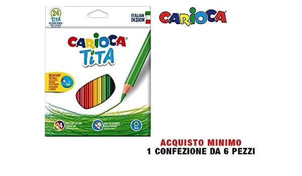 LAPICES de Colores Carioca TITA Hexagonal Estuche de 24: Amazon.es: Electrónica