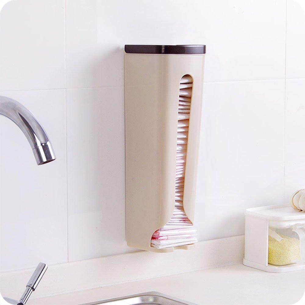 /instalar con viscosa xiduobao soporte de pared bolsa de la compra organizador y dispensador almacenamiento y reciclaje uso bolsa/