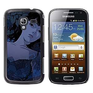 // PHONE CASE GIFT // Duro Estuche protector PC Cáscara Plástico Carcasa Funda Hard Protective Case for Samsung Galaxy Ace 2 / Muchacha de la historieta de Tattoed Sexy /