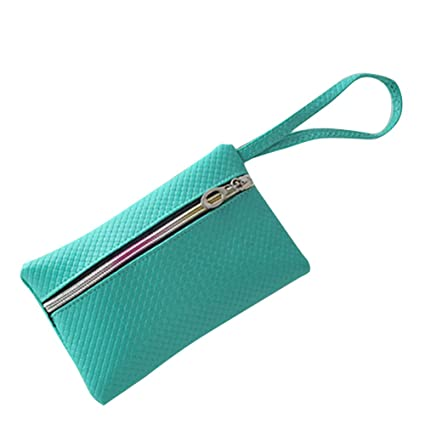 4bc2e643b3406 Image Unavailable. Image not available for. Color: Alamana Women's Purse,  Solid Color Rectangle Faux Leather Zipper Closure Purse Card Cash Phone  Holder