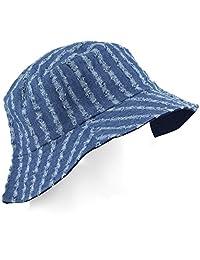 Soft Brim Sun Hat - Bucket Hat - Medium Blue Denim