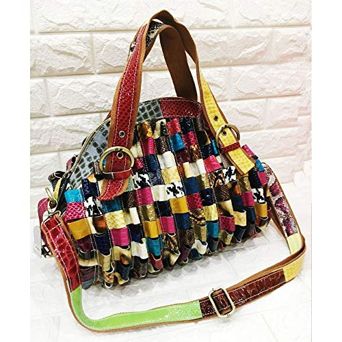 Wygmadlifeqq Patent Borsa Leather tracolla elegante Color casual borsa Seashell Retro Big a abbinata XARR6nr