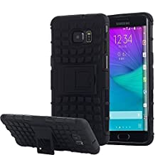 Galaxy S6 Edge Plus Case, Pandawell™ Heavy Duty Dual Layer Rugged Case with Kickstand for Samsung Galaxy S6 Edge+ (Black)