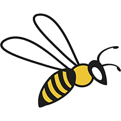 """Pretty Assortment of Bumble Bees Cartoon Art Vinyl Decal Sticker (12"""" Wide, Bee #8): Arts, Crafts & Sewing"""