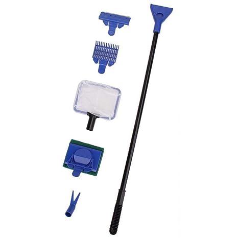 AOLVO 5 en 1 Kit Completo de Herramientas de Limpieza para Acuario de Peces, raspador
