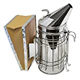 Aspectek Beehive Smoker (29X21.5cm) beekeeping equipment Stainless Steel with Heat Shield Protection