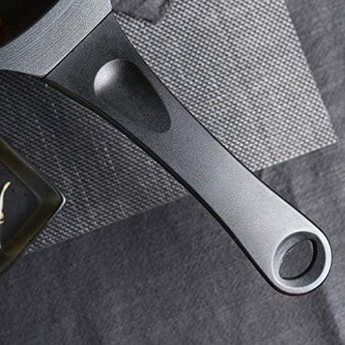 CJTMY Noir Casserole - avec Couvercle en Verre trempé, Aluminium forgé, revêtement Anti-Rayures, Lave-Vaisselle
