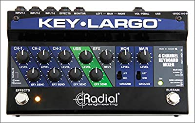 Radial Key Largo Keyboard Mixer with Balanced DI Outs from Radial