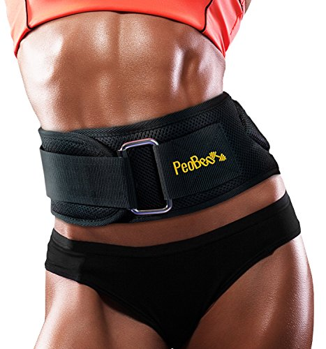 PeoBeo Fitness Weight Lifting Belt for Heavy Lifting Workouts | 6 Inch Power Weight Lifting Belt for Men and Women- by, size L