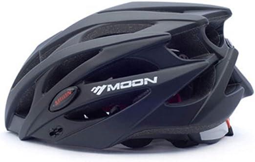 Zavddy-SP Casco de Bicicleta Montaña Adultos y RoadCycling Cascos con ala Desmontable Ajustable Protección Seguridad Deportiva Ware Carretera de la Bici de montaña del Casco de cicli (Color : Black): Amazon.es: Hogar