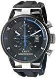 Locman Italy Men's 0510KNBKFBL0GOK Montecristo Classic Chronograph Analog Display Quartz Black Watch