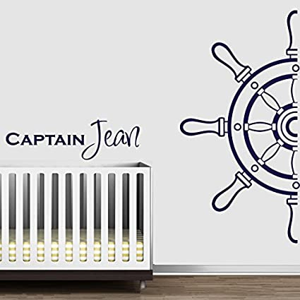 Wall decal vinyl sticker decals art decor design custom name baby letter anchor helm nautical salior