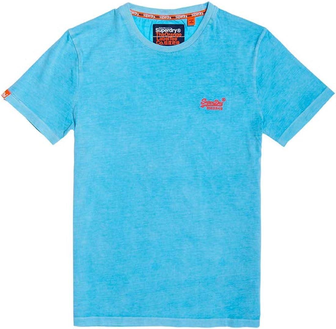 Superdry Herren ORANGE Label Vintage EMB Tee T-Shirt