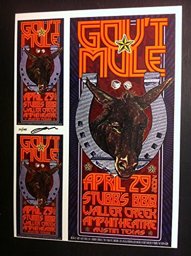 Gov't Mule Allman Brothers Rare Original Austin Texas Concert Poster Proof Sheet