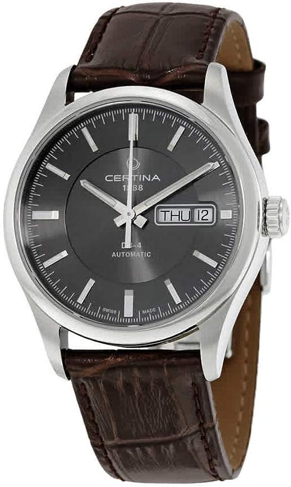 Certina C022.430.16.081.00 - Reloj para Hombres, Correa de Cuero Color marrón