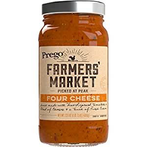 Prego Farmers' Market Sauce, Four Cheese, 23.5 Ounce (Packaging May Vary)