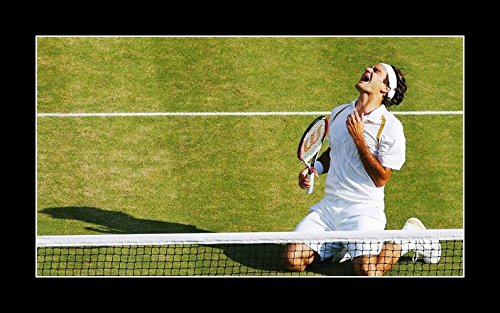 Roger Federer Framed Photo (8 x 10 All Wood Framed Photo Wallpaper-Roger-Federer-1-Sport-Celebrity)