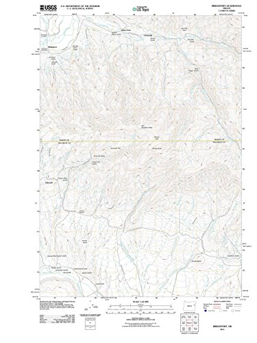 Oregon Maps - 2011 Bridgeport, OR USGS Historical Topographic Map - Cartography Wall Art - 33in x ()