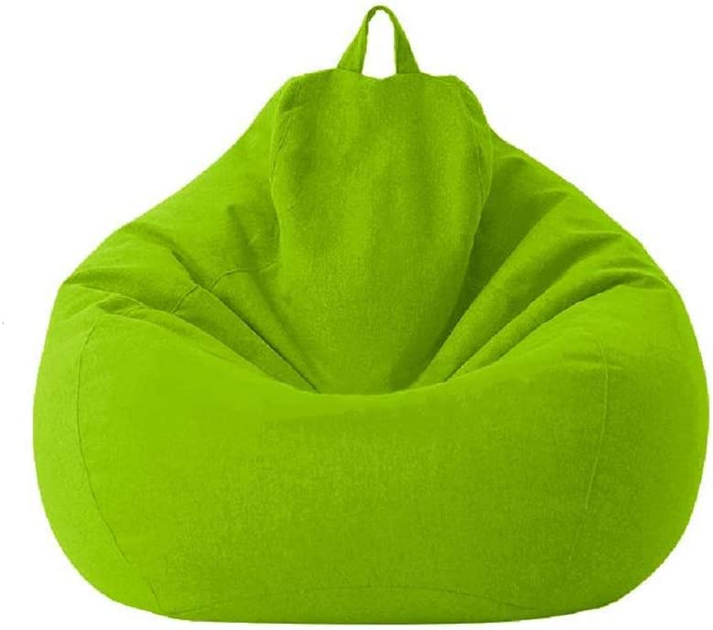 Classic Sofa Chairs Lazy Lounger Bean Bag Cover for Home Garden Lounge Living Room (Green, 7080cm)