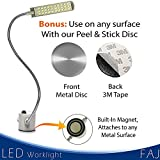 FAJ Magnetic 12-Inches Flexible Gooseneck Arm Multifunctional Worklight, Bright Daylight LEDs Sewing Machines, Lathes, Drill Presses, Workbenches, Music Stands (30 led)