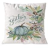 Icocol Halloween Pumpkin Features Pillows Cover Decor Pillow Case Sofa Waist Throw Cushion Cover (A)