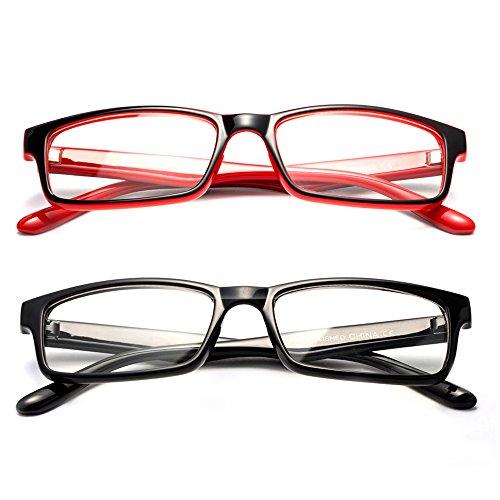 Newbee Fashion -Sensi Simple Squared Light Weight No Logo Fashion Clear Lens Glasses Black -