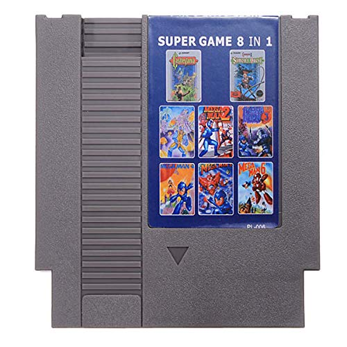 Mega Man 1-6 Castlevania 1 2 Game Card 72 Pin 8 Bit Cartridge for NES - Retro Games Accessories Cartridge For Nintendo - 1 x 8 IN 1 Game Cartridge