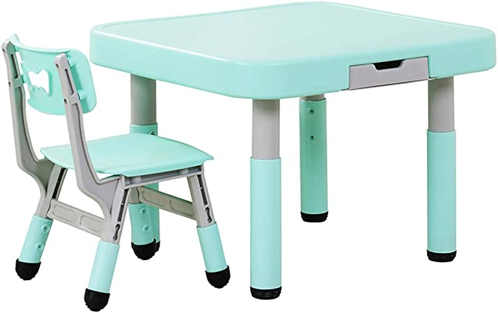 juego de mesa y silla para niños, Mesa y Silla de plástico para el jardín de Infantes en casa, Escritorio con cajones, Mesa y sillas para Juegos de bebé: Amazon.es: Hogar