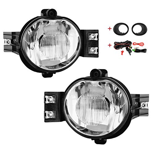 Oem Fog Lamp Kit - AUTOSAVER88 Glass Lens Fog Lights 9006 12V 51W Halogen Lamp Competible for 2002-2008 Dodge Ram 1500\2500 Pick Up Truck with Wiring Kit and Lamp Bracket