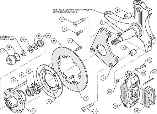 Amazon Com New Wilwood Front Drag Racing Disc Brake Kit 10 75