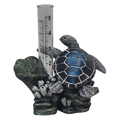 The Crabby Nook Sea Turtle Rain Gauge Garden Outdoor Decor