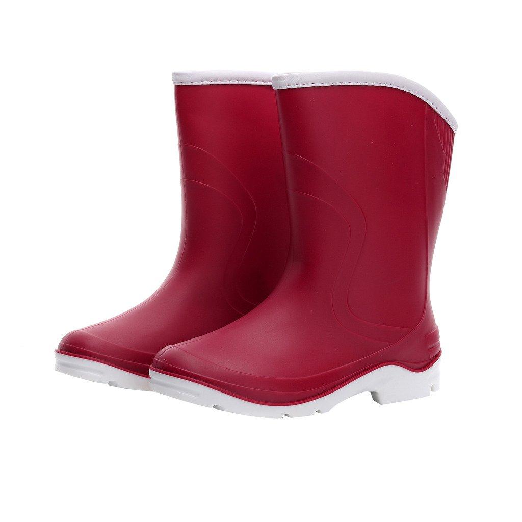 Women Half Calf Ankle Rubber Rainboots 2 Color Waterproof Boots For Garden Rain Round Toe Rainboots 1701