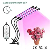 Cheap LED Grow Light, Full Spectrum 27W Triple Heads Grow Light. 54 LED 5 Dimmable Levels, USB Power Supply, 4/8/12H Timer, 360 Degree Flexible Gooseneck for Indoor, Office and Home