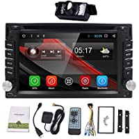 Best Wifi Model Android 6.0 Quad-Core 6.2 Inch Touch-screen Universal Car DVD CD player GPS Double 2 din Stereo GPS Navigation free camera and map