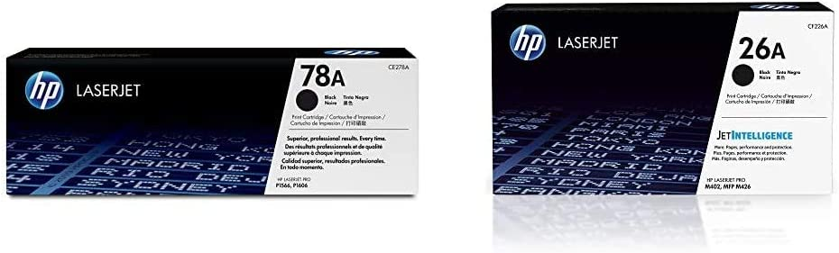 HP 78A | CE278A | Toner Cartridge | Black & 26A | CF226A | Toner Cartridge | Black