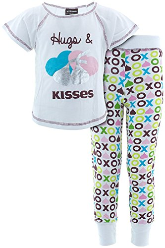 hersheys-kisses-little-girls-white-cotton-pajamas-s-5-6