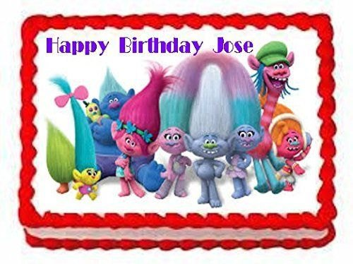Trolls Personalized Edible Cake Frosting Sheet