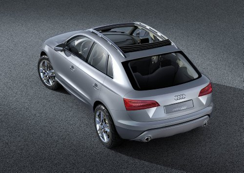 Audi Cross Coupe Quattro Concept (2007) Car Art Poster Print on 10 mil Archival Satin Paper Silver Rear Top Side Static View 36