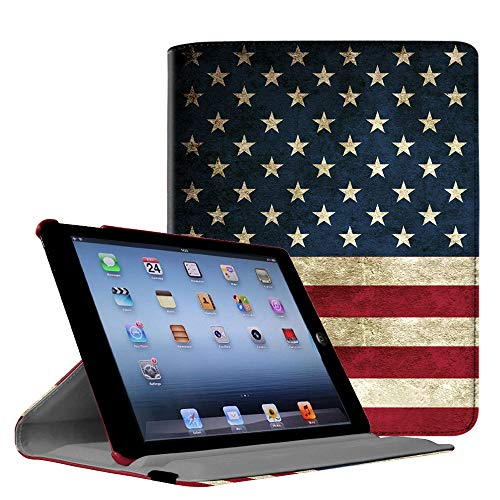 Fintie iPad 2/3/4 Case - Multiple Angles Stand Smart Protective Cover for iPad with Retina Display (iPad 4th Generation), The New iPad 3 & iPad 2 (Automatic Wake/Sleep Feature) - US Flag